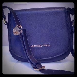 New Michael Kors Leather Shoulder Bag Black